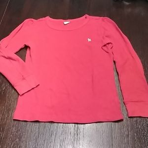 Old Navy red long sleeve waffle knit shirt.  Sz 8